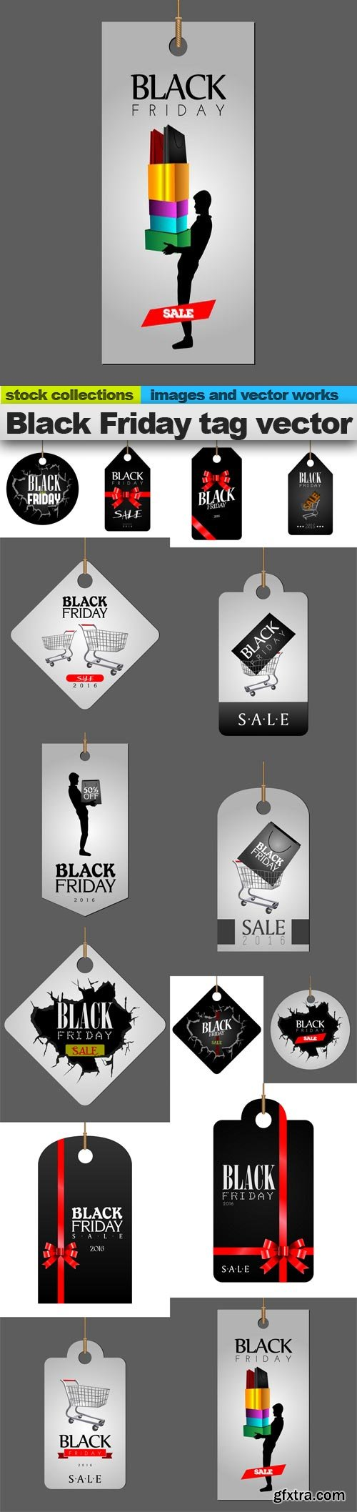 Black Friday tag vector, 15 x EPS