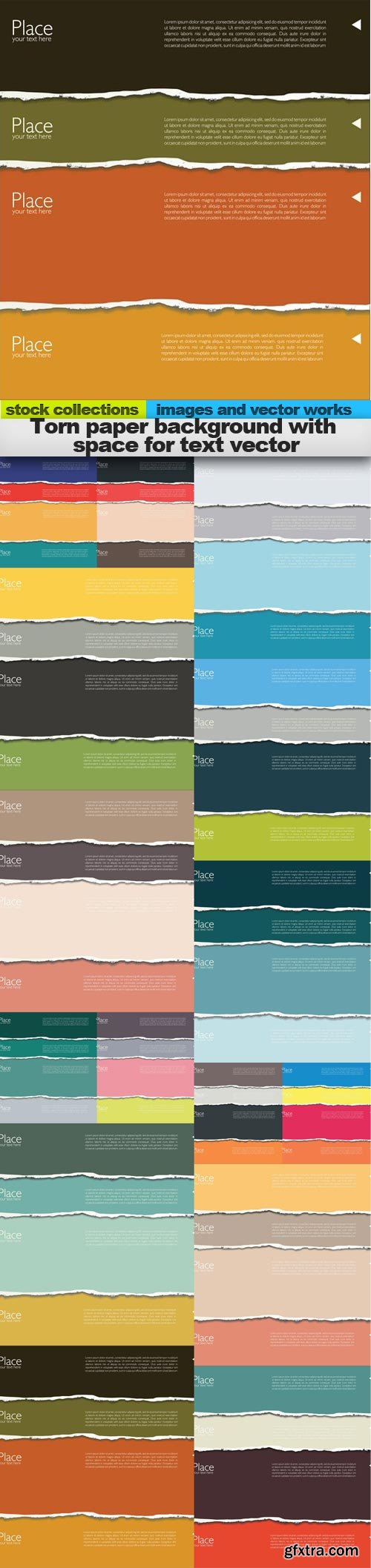 Torn paper background with space for text vector, 15 x EPS
