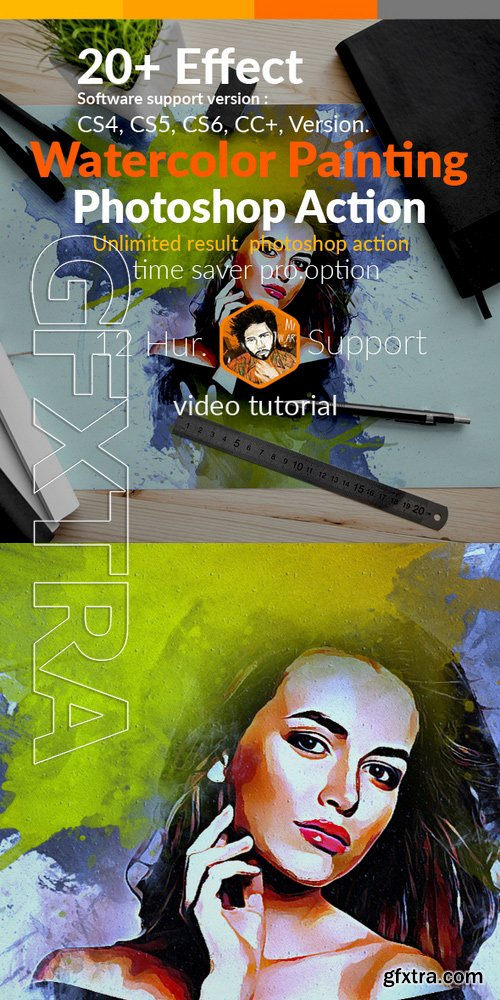 GraphicRiver - Watercolor Painting Photoshop Action 18306977