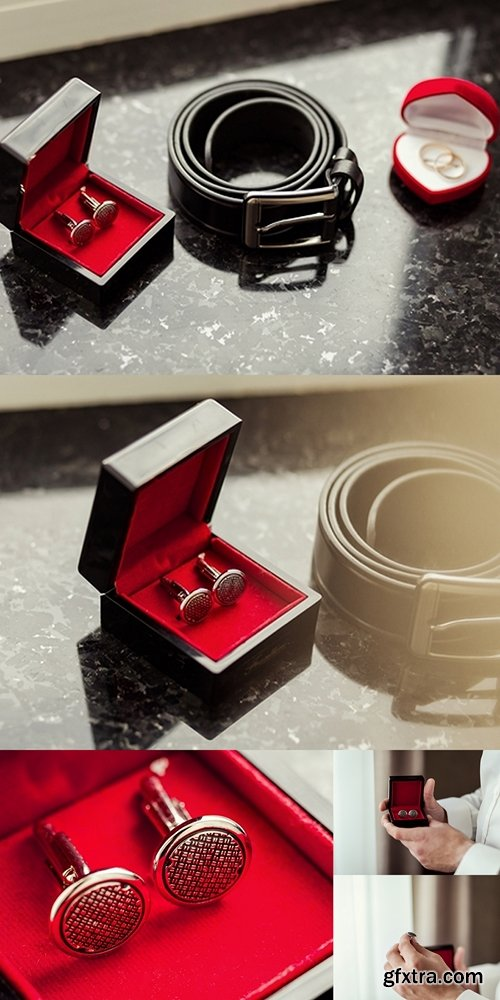 Cufflinks, men's belt, wedding rings, the groom morning,businessman, wedding, man fashion, men's Accessories