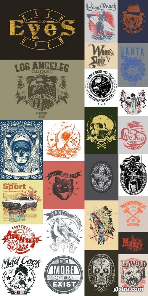 Design T-shirts, logos, brands, abstract vector Vintage vector style 8