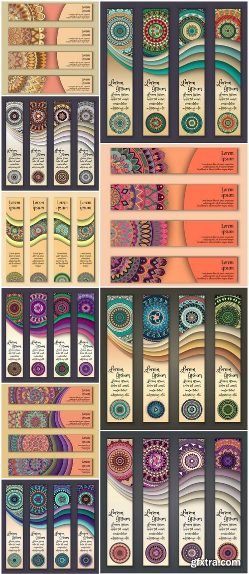 Tribal & Ethnic Ornamental Banners 3 - 20xEPS