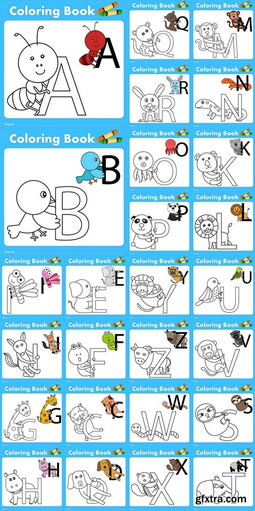 Illustrator of color book with animal