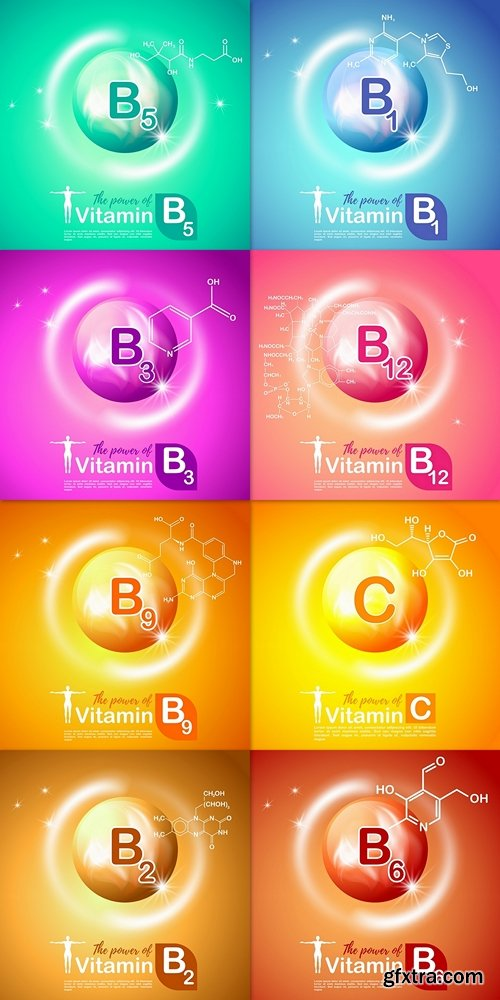 Nutrition sign vector concept. The power of vitamin