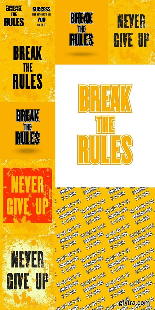 Inspiring motivation quote with text Break the Rules. Vector typography poster design concept