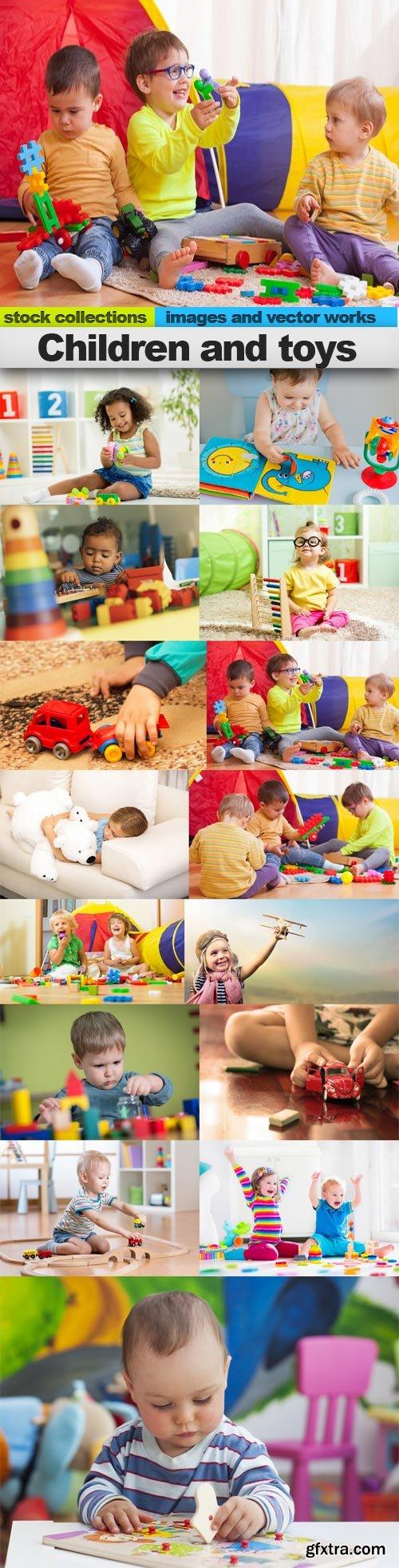 Children and toys, 15 x UHQ JPEG