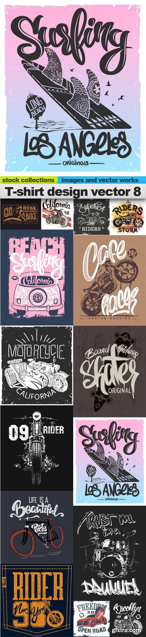 T-shirt design vector 8, 15 x EPS