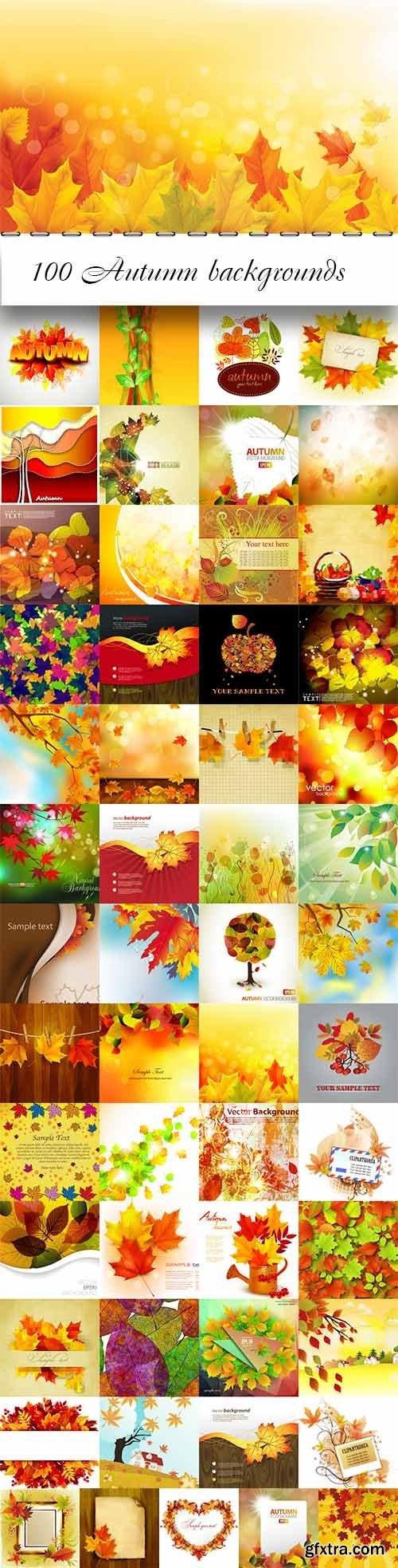 100 Autumn vector backgrounds