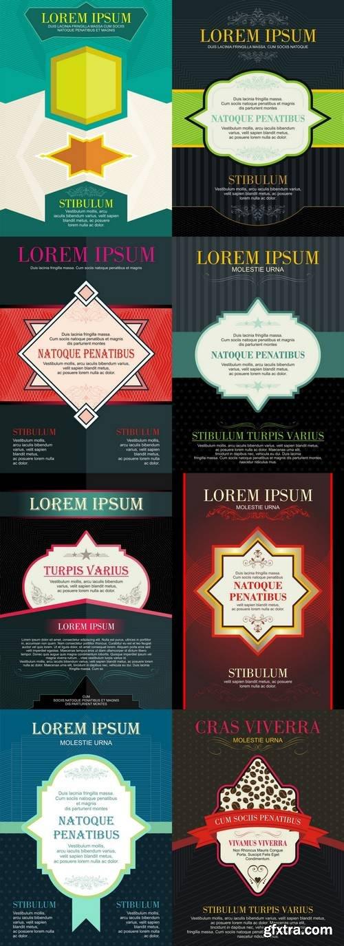 Brochures in Vintage Style - Design Templates