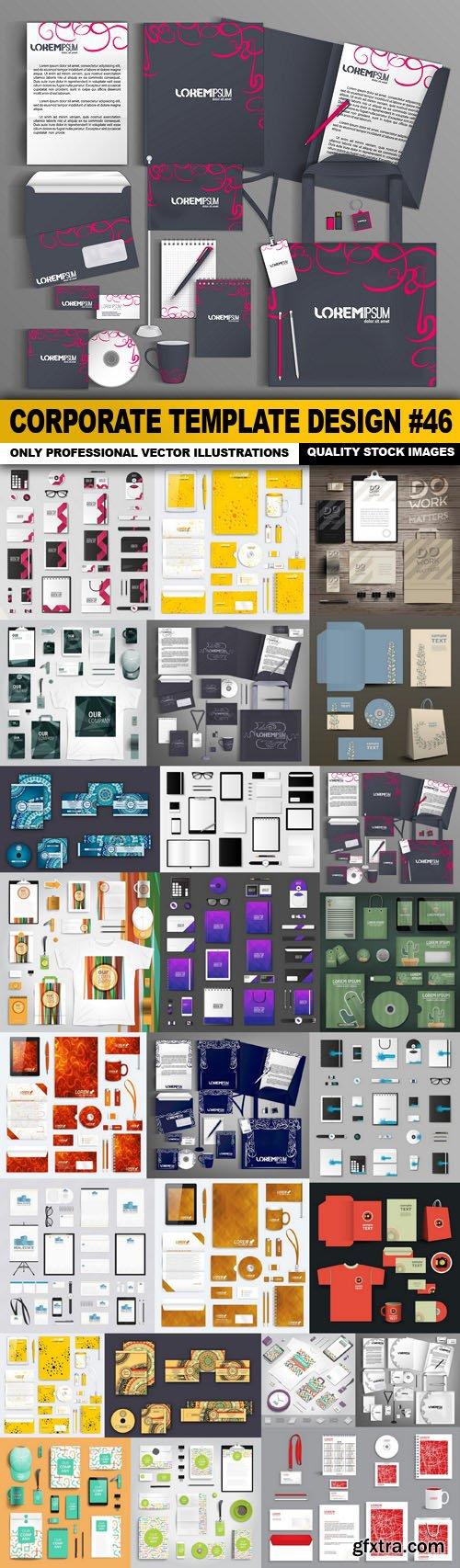 Corporate Template Design #46 - 25 Vector