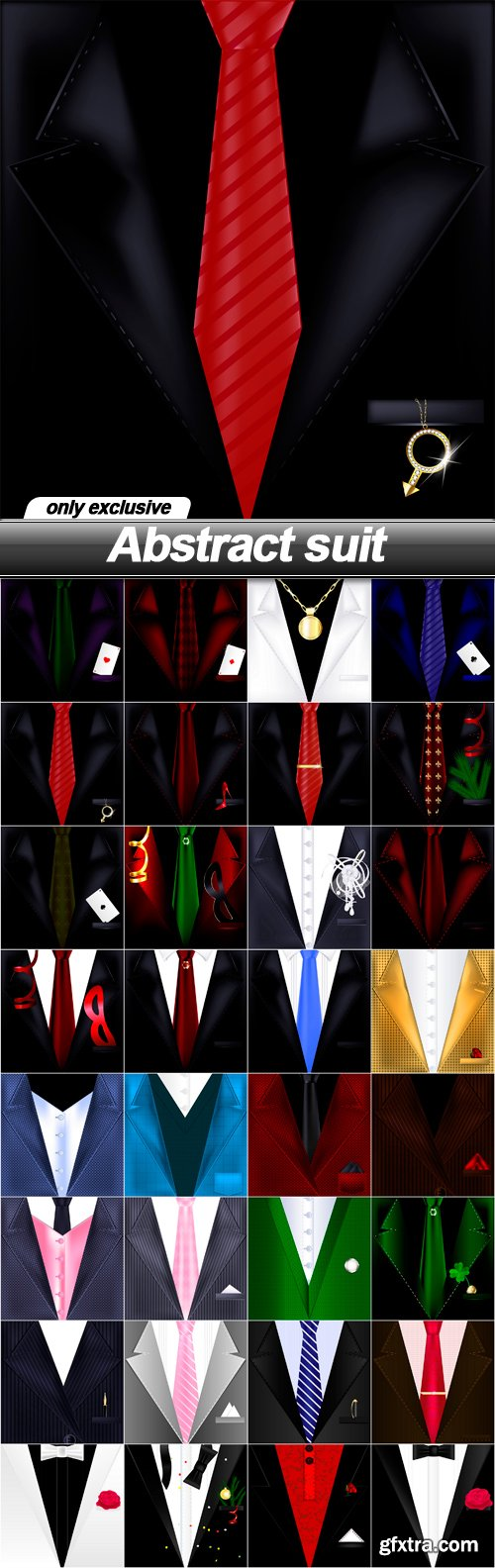 Abstract suit - 32 EPS
