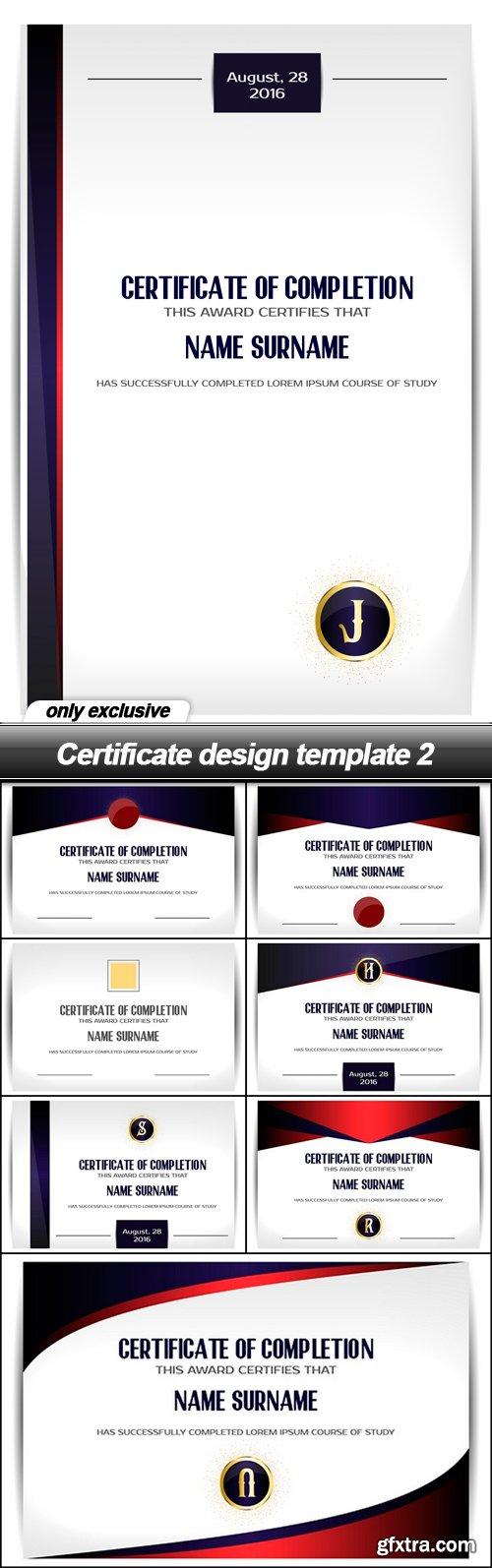 Certificate design template 2 - 8 EPS