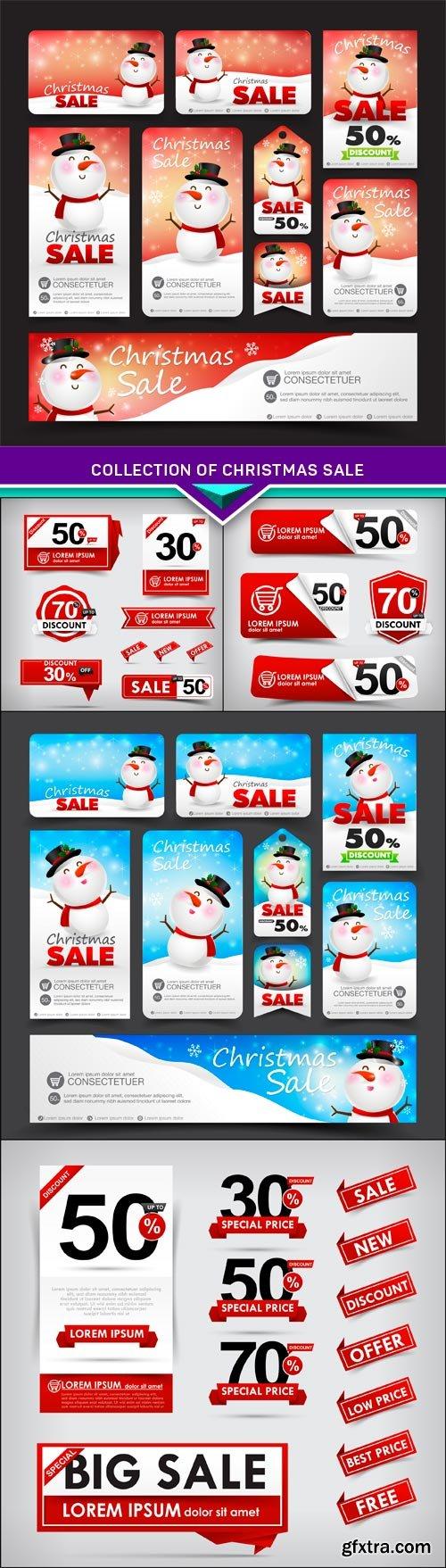 Collection of christmas sale 5X EPS