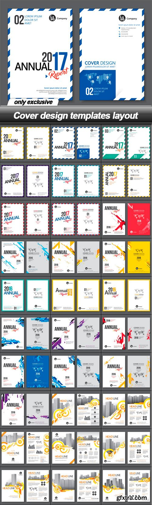Cover design templates layout - 30 EPS