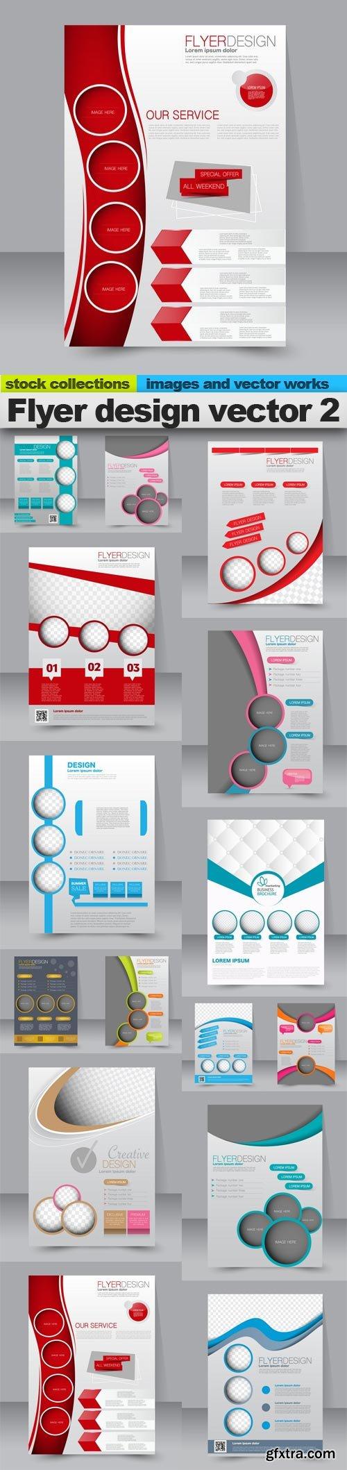Flyer design vector 2, 15 x EPS
