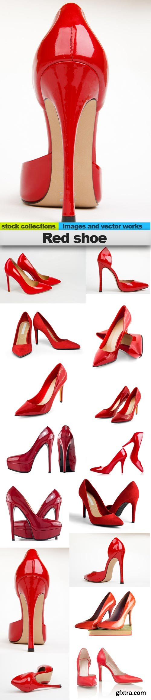 Red shoe, 15 x UHQ JPEG