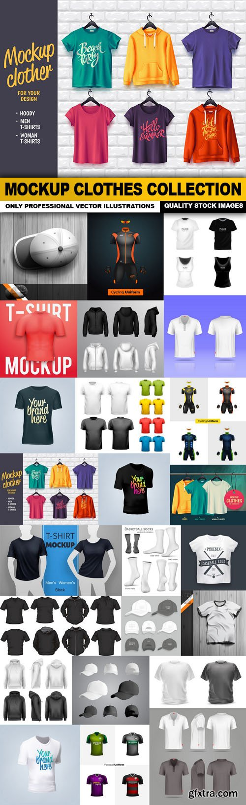 Mockup Clothes Collection - 25 Vector