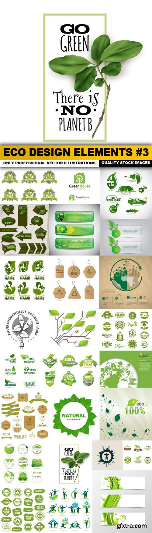 ECO Design Elements #3 - 25 Vector
