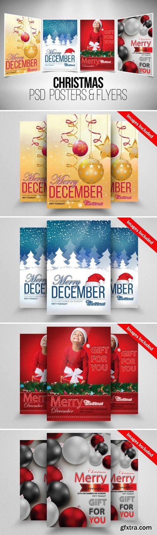 CM - 4 Christmas Flyer Template Bundle 923358