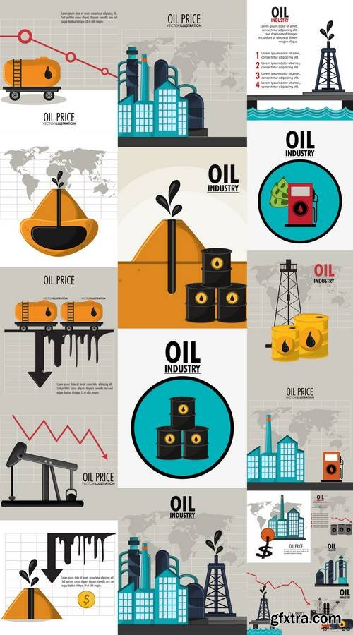 Oil Price IIndustry Fuel Production and Gasoline Theme