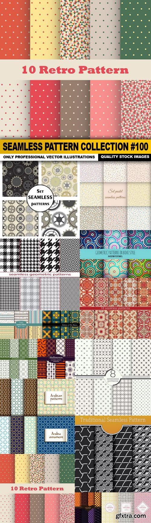 Seamless Pattern Collection #100 - 15 Vector