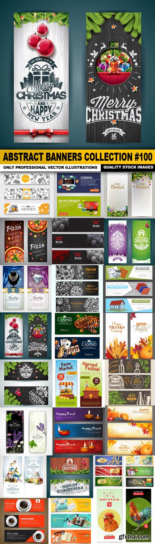 Abstract Banners Collection #100 - 25 Vectors