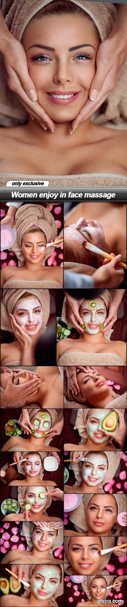 Women enjoy in face massage - 17 UHQ JPEG
