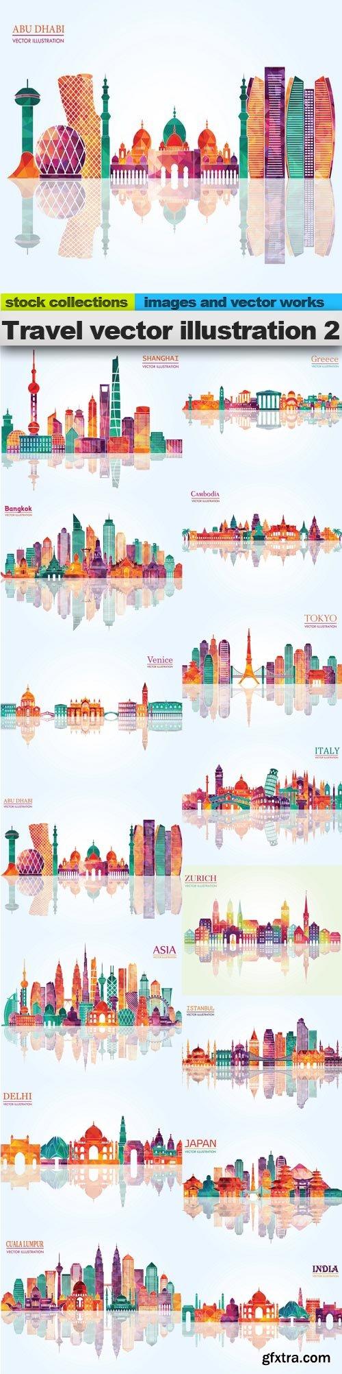 Travel vector illustration 2, 15 x EPS