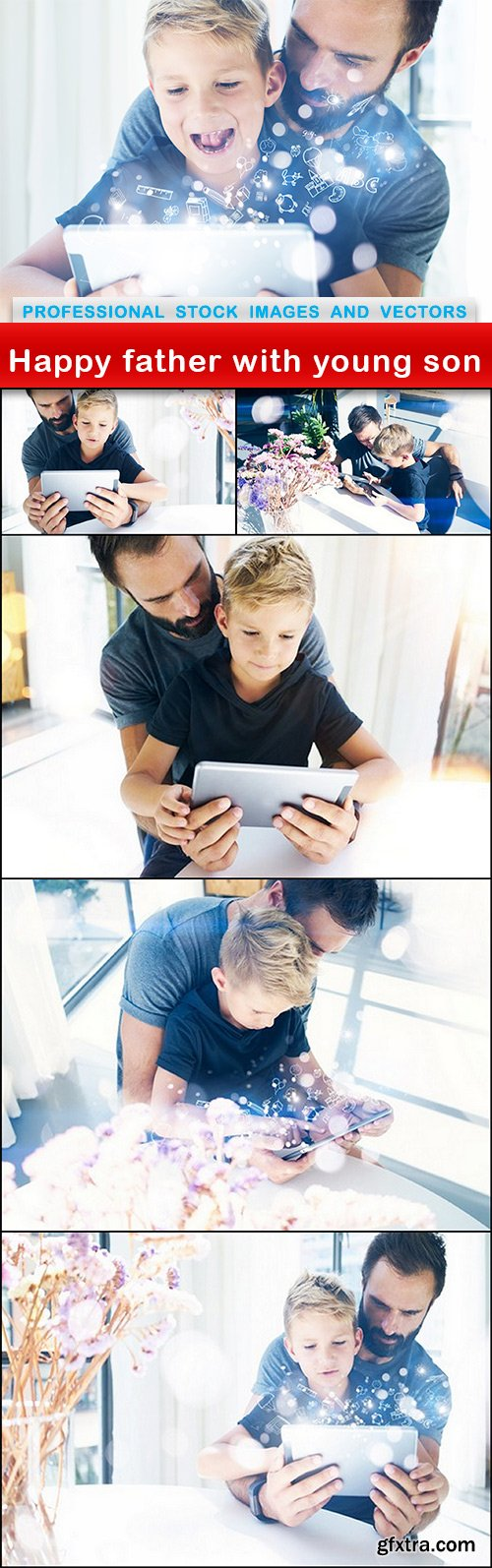 Happy father with young son - 6 UHQ JPEG