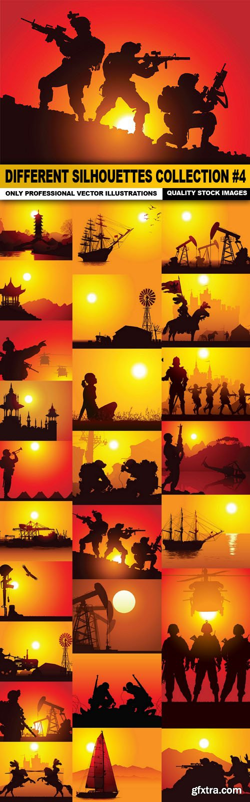 Different Silhouettes Collection #4 - 25 Vector