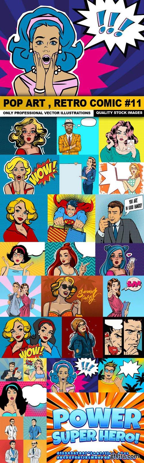 Pop Art , Retro Comic #11 - 25 Vector
