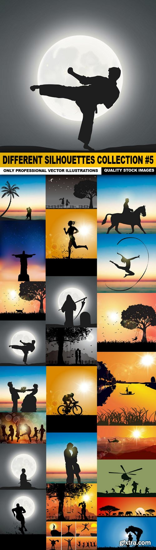 Different Silhouettes Collection #5 - 25 Vector