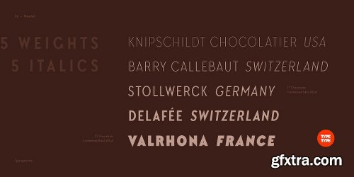 TT Chocolates Condensed Font Family - 10 Fonts