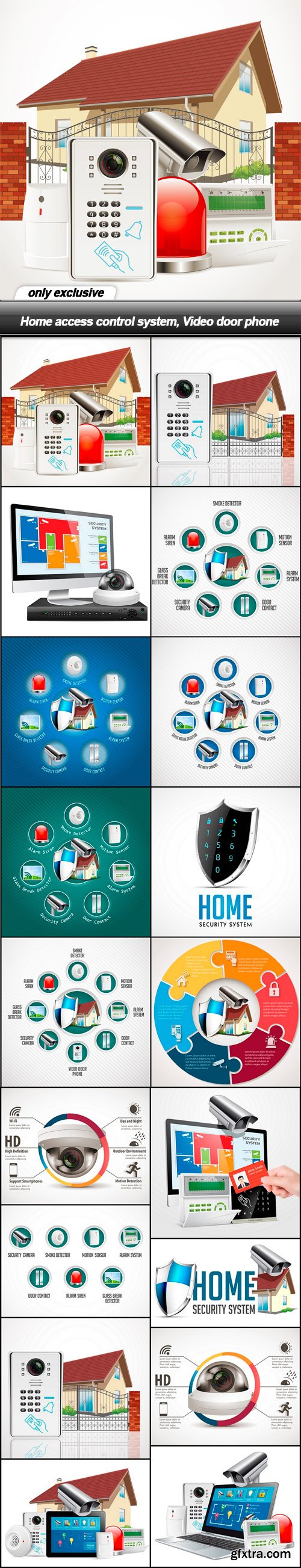 Home access control system, Video door phone - 18 EPS