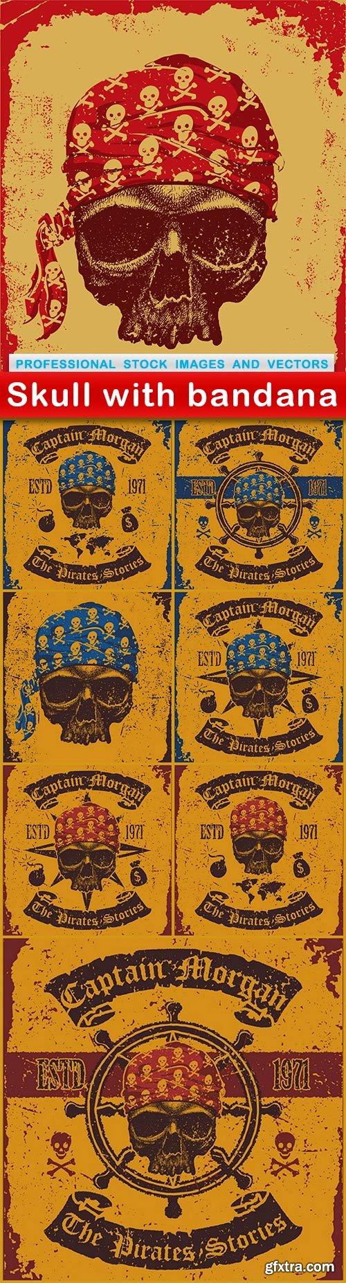 Skull with bandana - 8 EPS