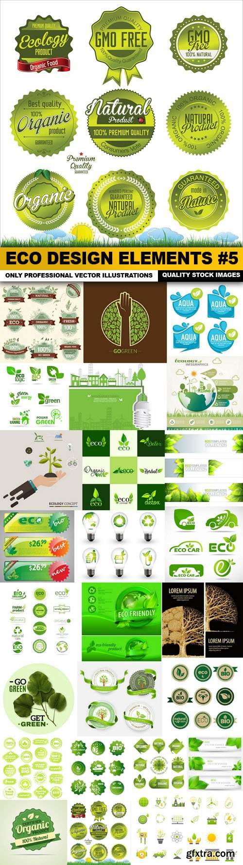 ECO Design Elements #5 - 25 Vector