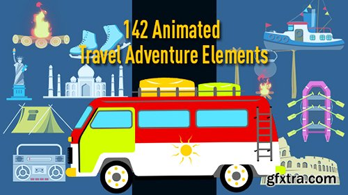 Videohive Animated Travel Adventure Elements 17316384