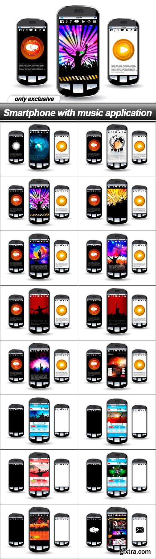 Smartphone with music application - 16 EPS