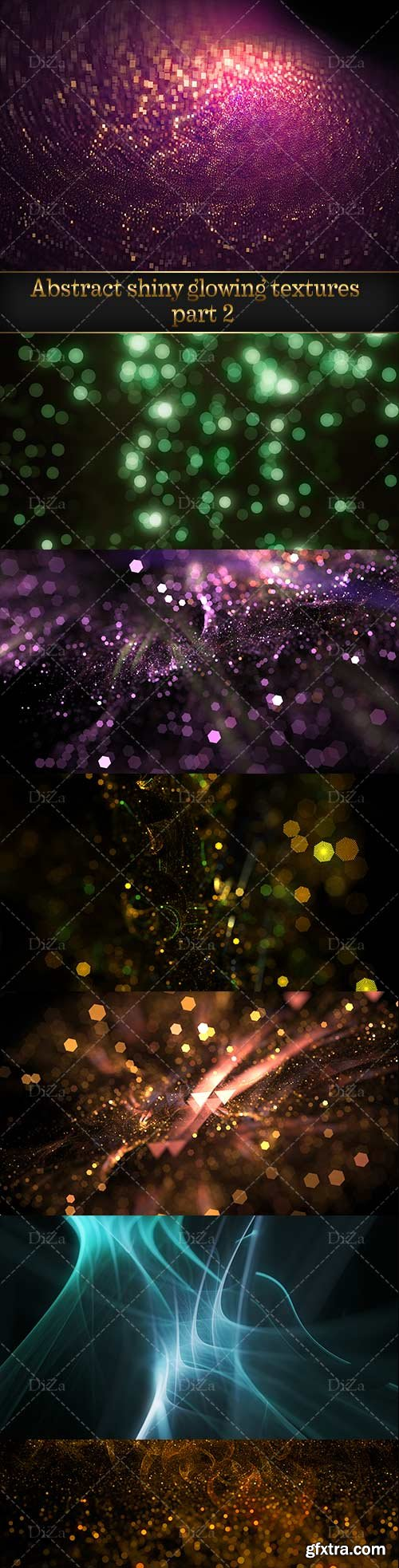 Abstract shiny glowing textures - 2