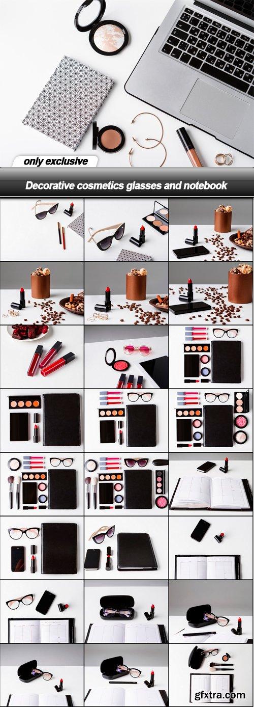 Decorative cosmetics glasses and notebook - 25 UHQ JPEG