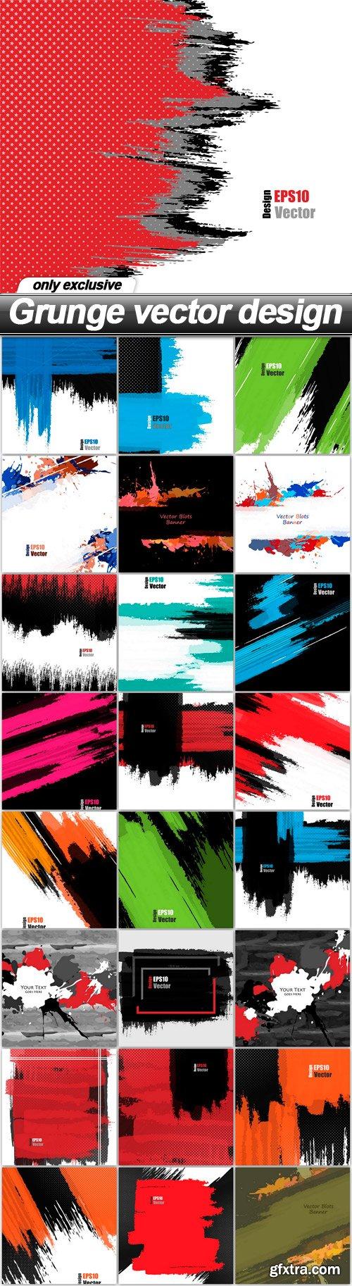 Grunge vector design - 25 EPS