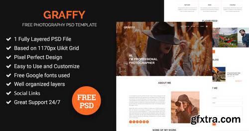 Graffy – photography web psd template