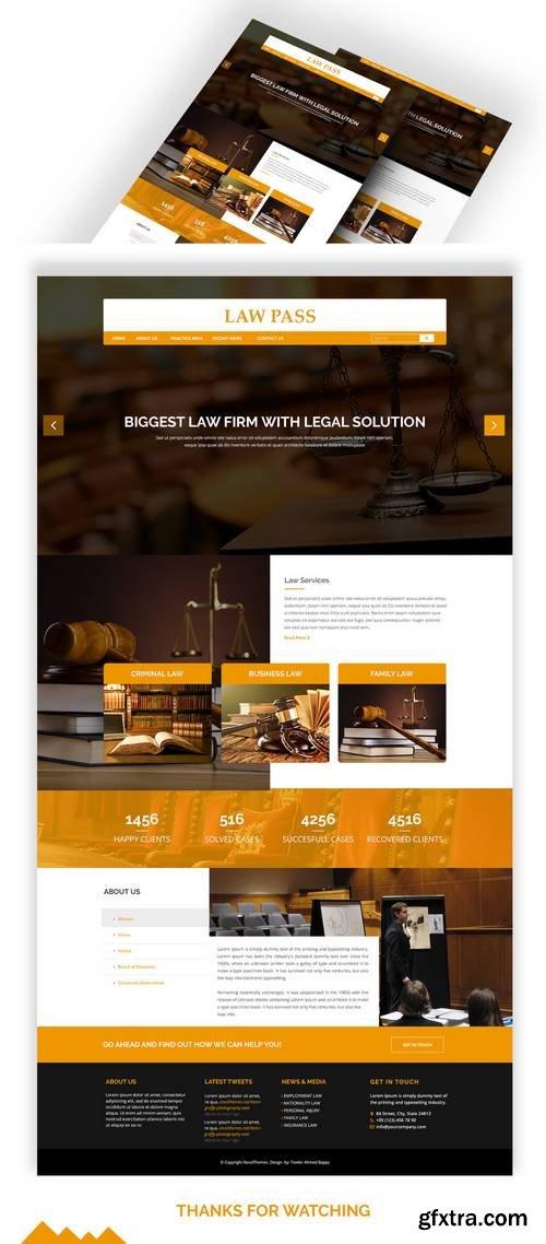 LawPass – Law Agency web template psd