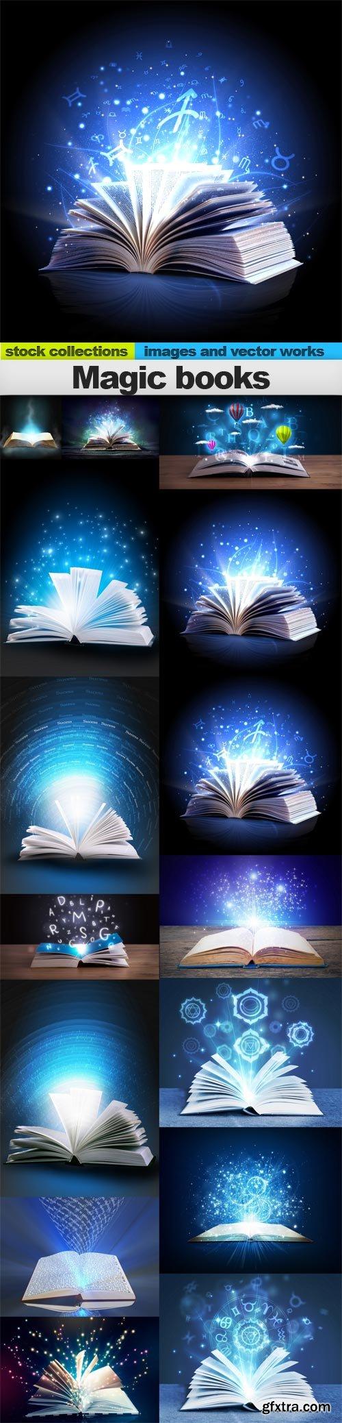 Magic books, 15 x UHQ JPEG