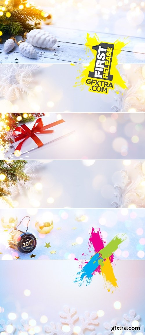 Stock Photo - Art White Christmas Backgrounds