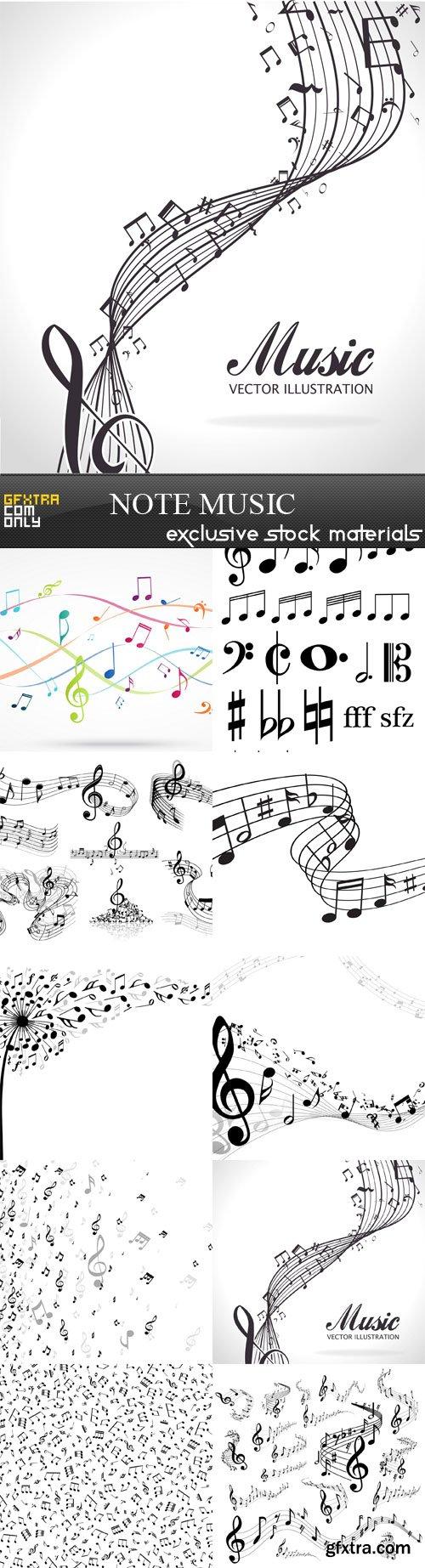 Note music, 10 х EPS