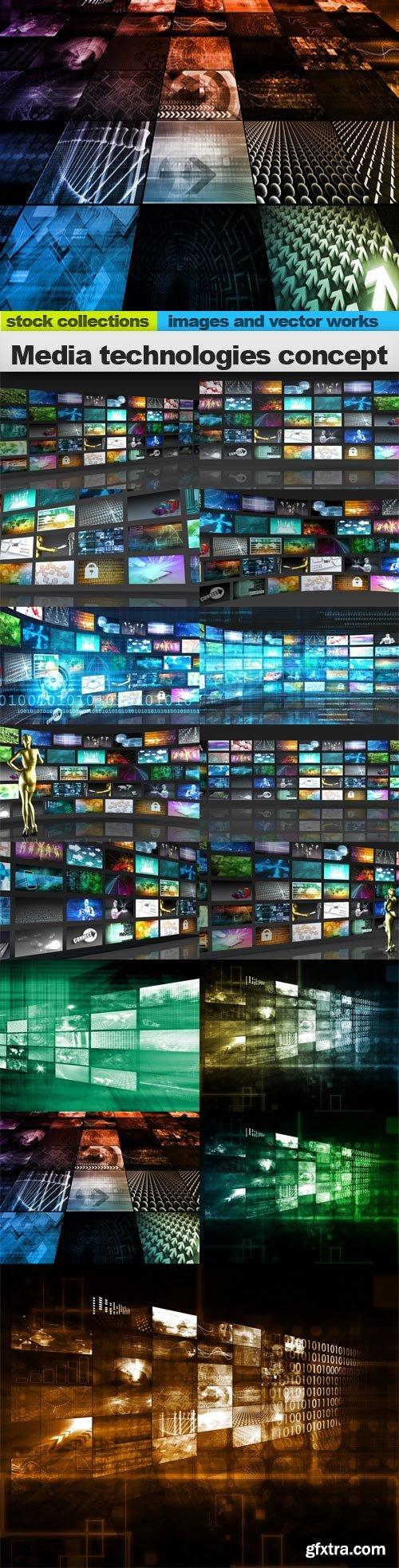 Media technologies concept, 15 x UHQ JPEG