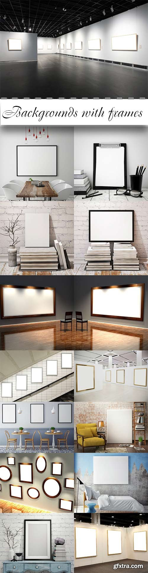 Raster backgrounds with frames