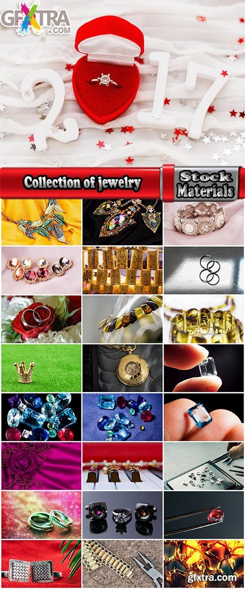 Collection of jewelry stone gold ring pendant 25 HQ Jpeg