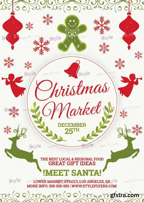 Christmas Market PSD V11 Flyer Template